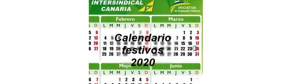 2020 Calendario Laboral.Calendario Festivos Cc Aa 2020 Intersindical Canaria