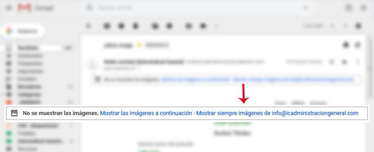 Mostrar imágenes desde Gmail