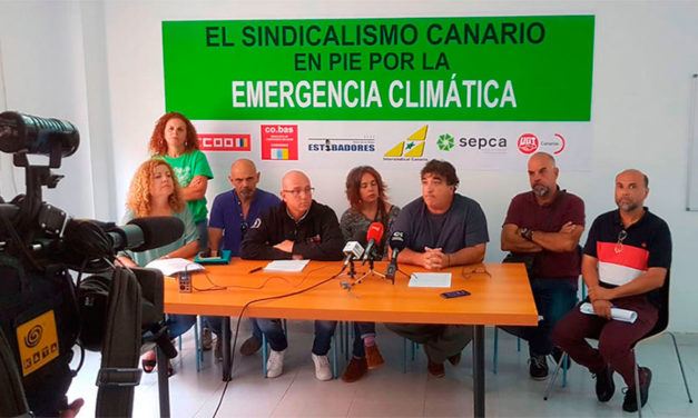 El Sindicalismo Canario en pie por la Emergencia Climática